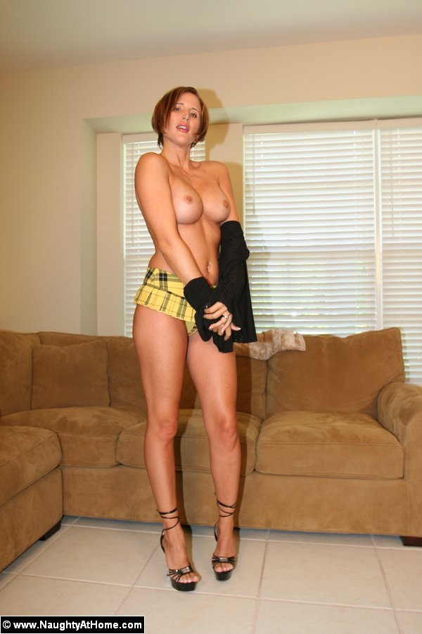 Mini skirt milf