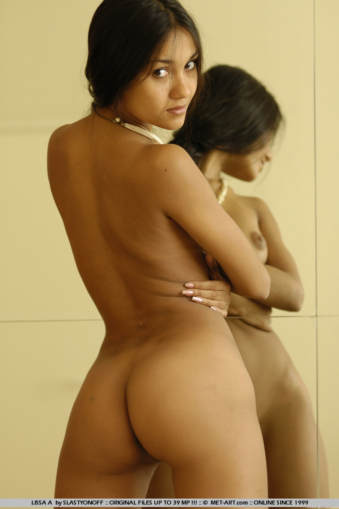 nude dark skin indian