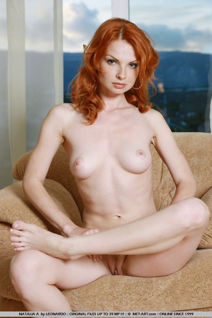The non nude freckled redhead position