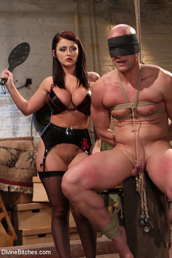 Big boobed mistress in tight lingerie spank - XXX Dessert - Picture 2. YOUX