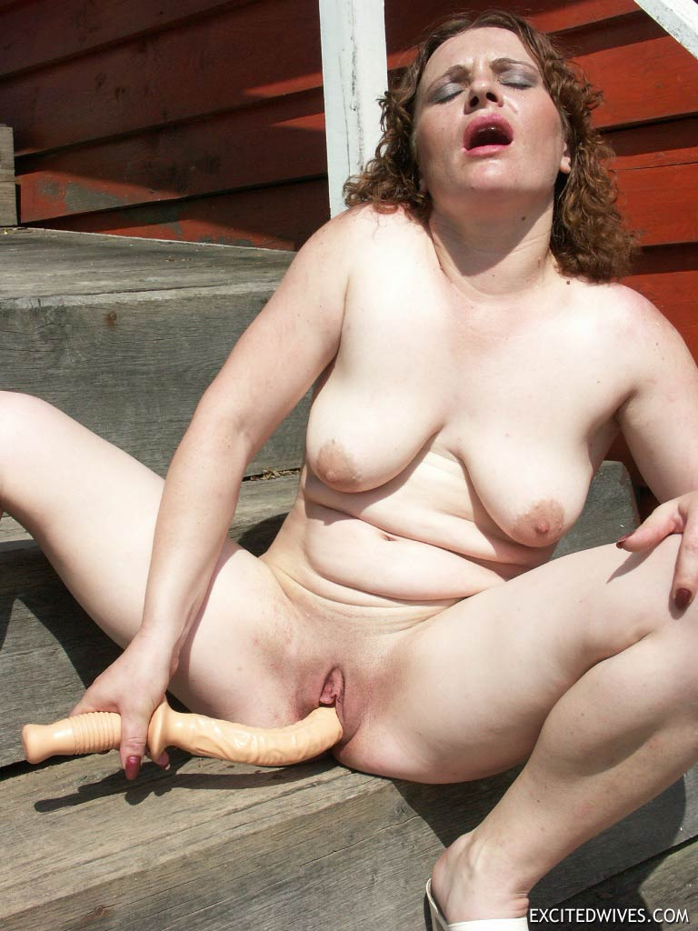 Something Busty mature outdoors absolutely assured