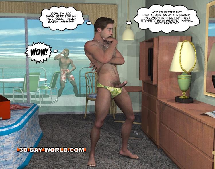 porn Cartoon beach gay