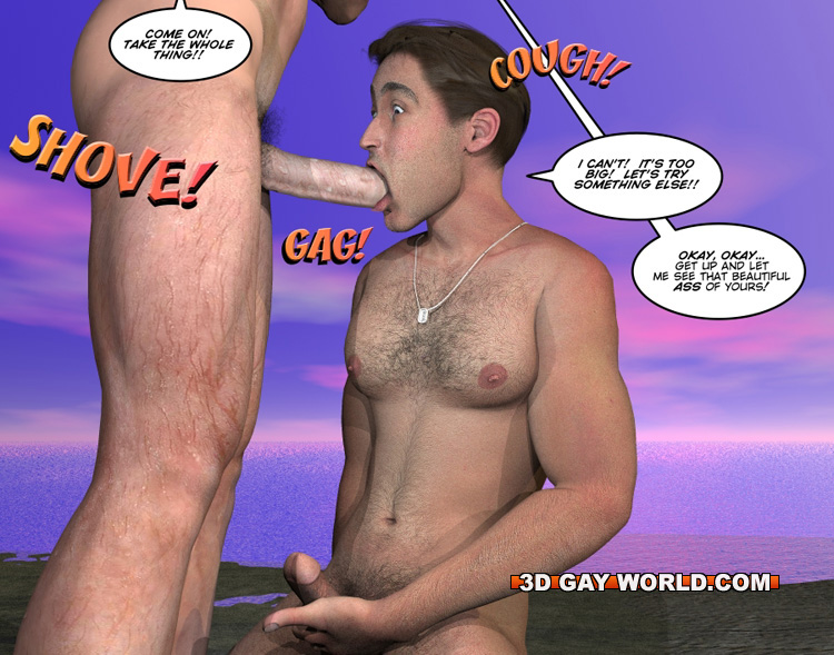 Hot Guy Nude Beach Porn - Cartoon porn with two gay dudes on the beach. Tags: - Picture 15