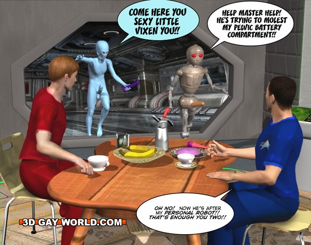 Horny gay pervert was catched aliens adult gay cartoon pics