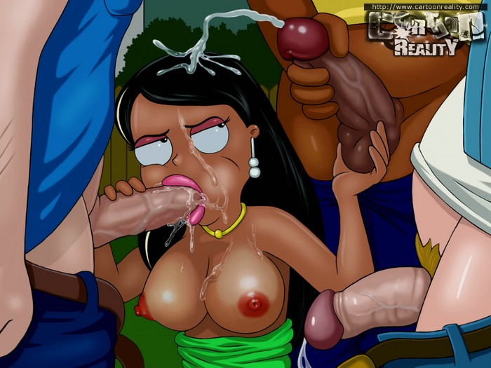 Cleveland Show toon guy fucking his wife's mouth and - Picture 2