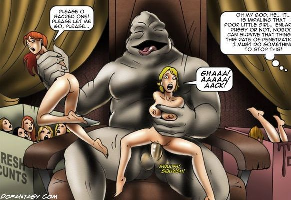 Girls bdsm with monsters