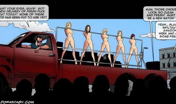 Enslaved pretty women gonna be fucked - BDSM Art Collection - Pic 1