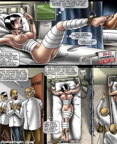 Comic tied up naked girl #11