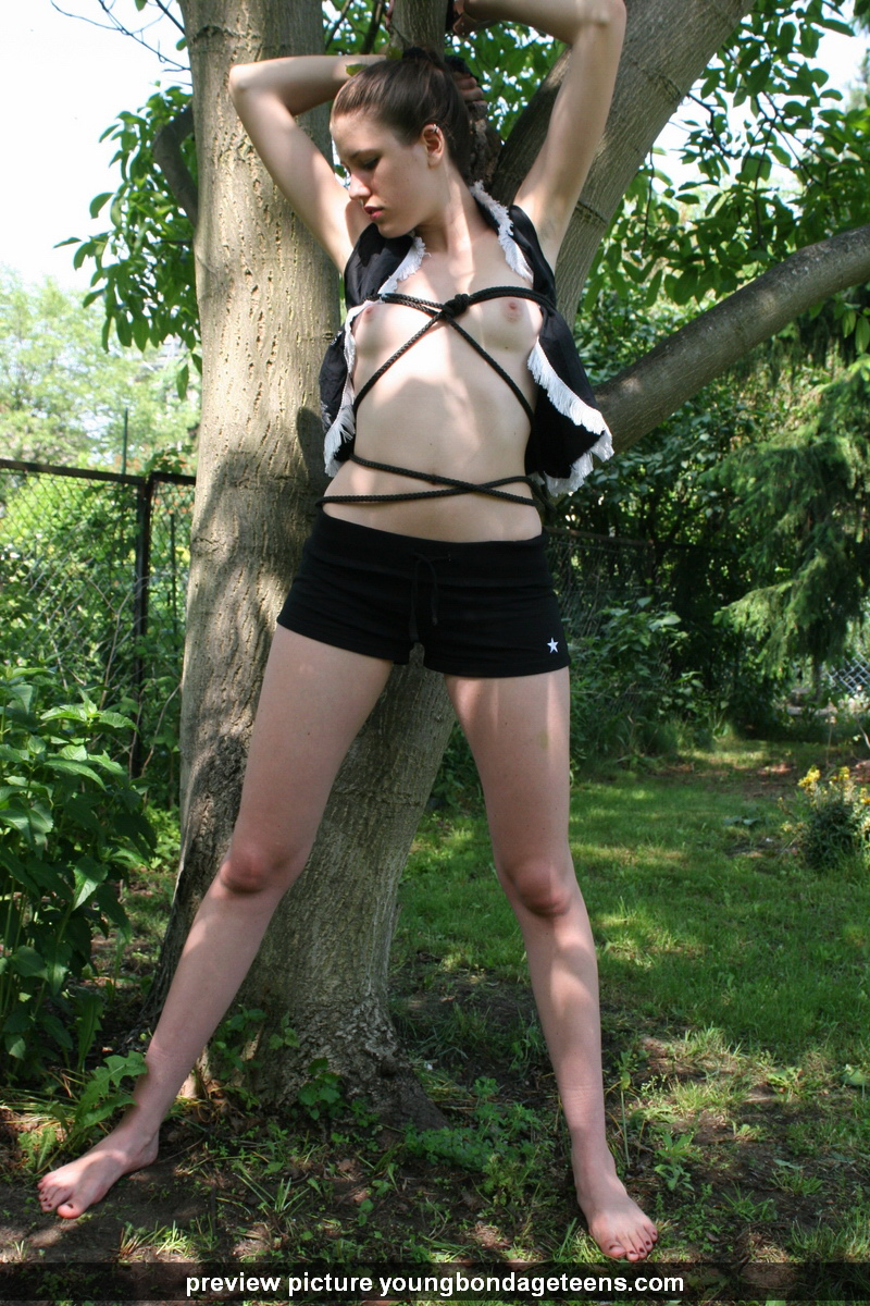 Chinese army girl tied to tree 2 3