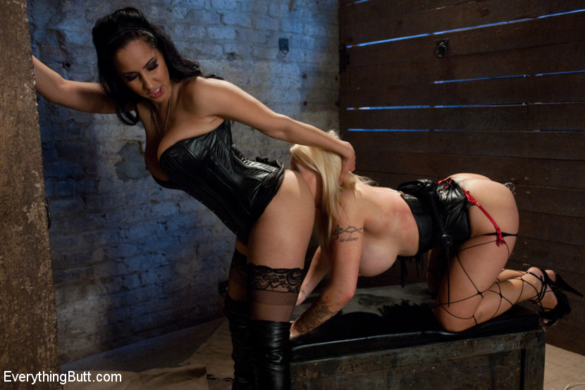 Candy Manson Latex Threesome Part 1