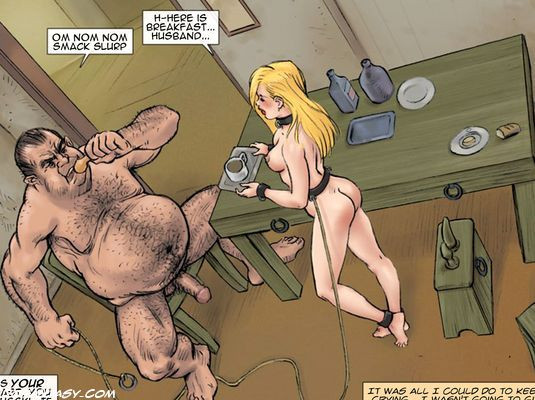 Pretty blonde bimbo on a leash forced - BDSM Art Collection - Pic 5