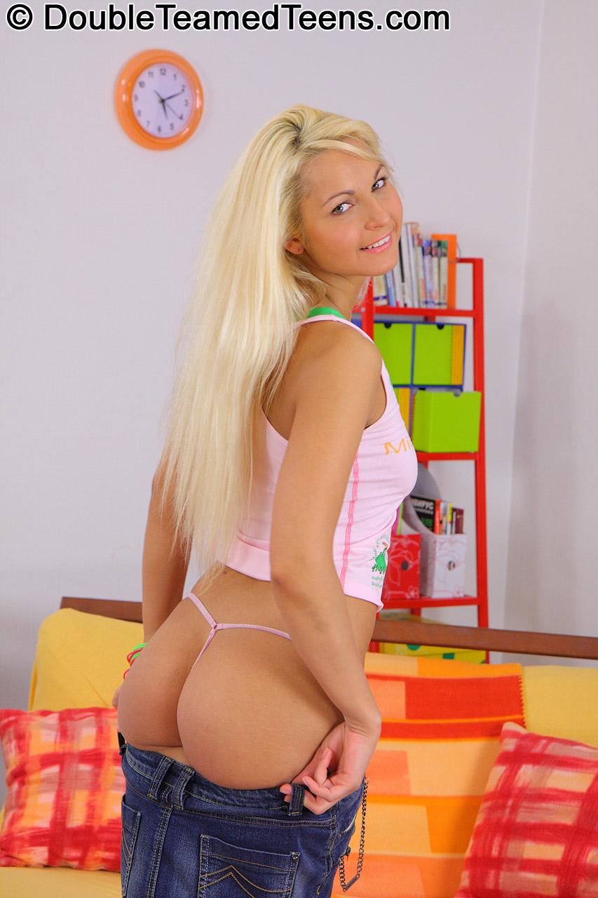 double teen Blonde stuffed