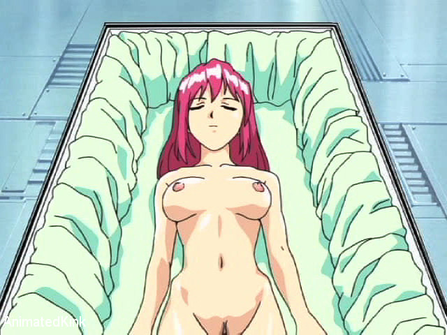 Enslaved manga babe with pink hair forced to suck - Picture 2