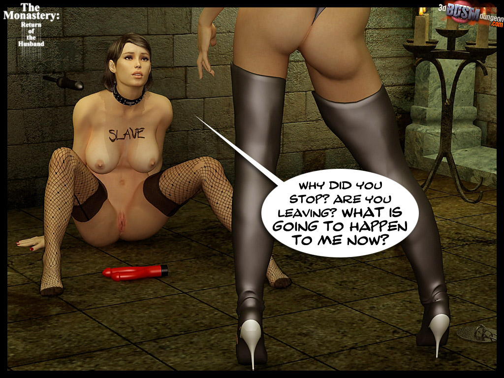 3d busty brunette in fishnet stockings - BDSM Art Collection - Pic 6