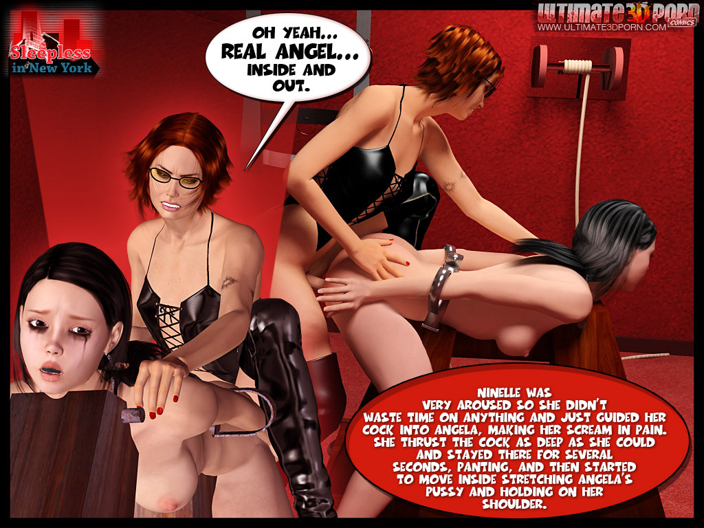 Latex dreessed 3d transsexuals enjoying - BDSM Art Collection - Pic 7