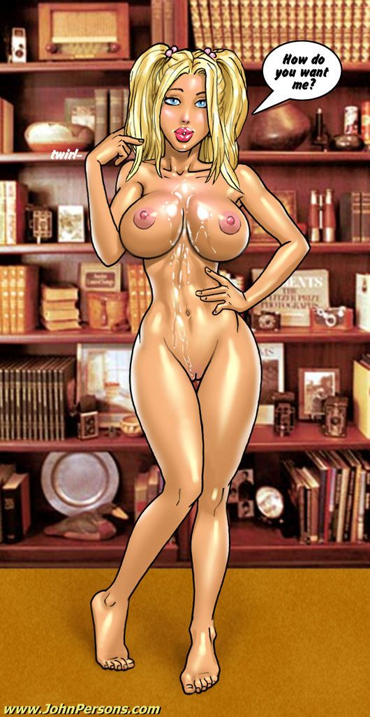 Cartoon busty cutie gets her stomach filled with - Picture 3