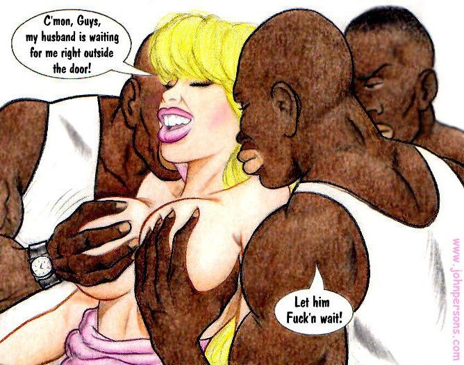Black cun hungry cartoon blonde slut doesn't mind - Picture 3