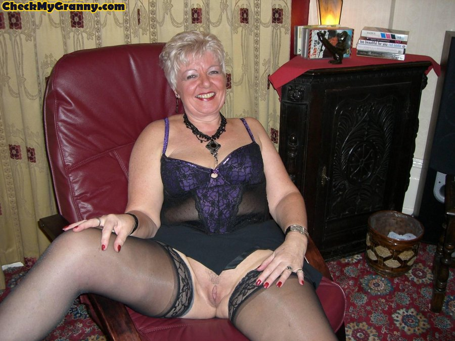 Granny stockings xxx