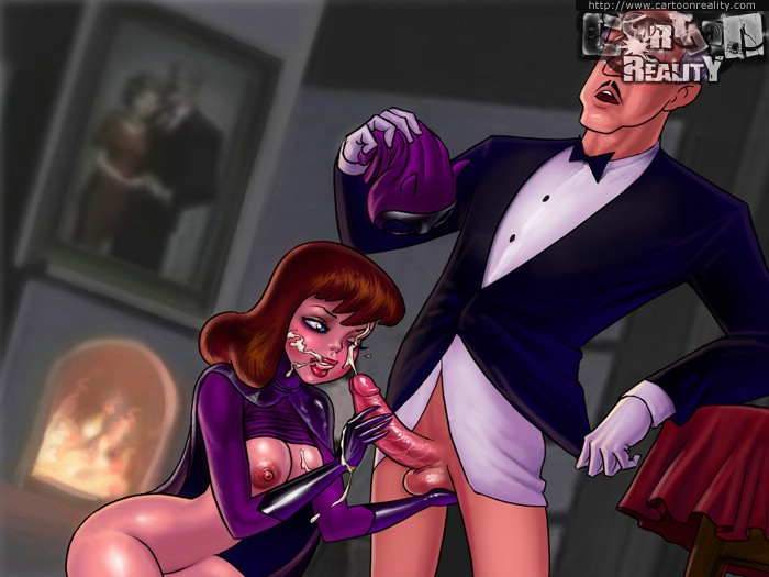 Slutty Batgirl loves fucking with a Superman - Cartoon Sex - Picture 1