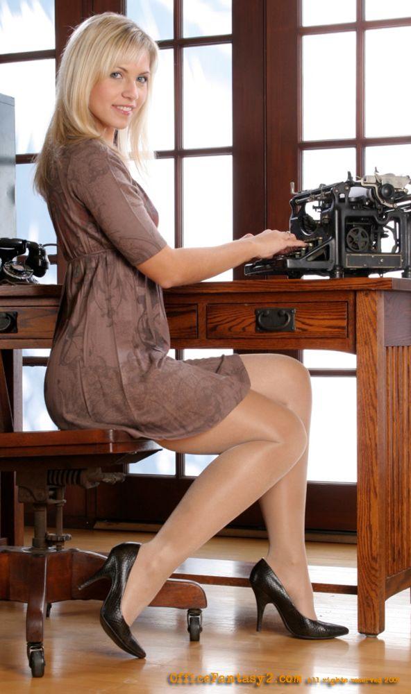 Sexy secretaries in white panties dachte