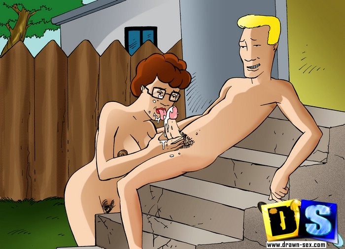 Nasty cartoon Peggy Hill sucks her husband's friends - Picture 2