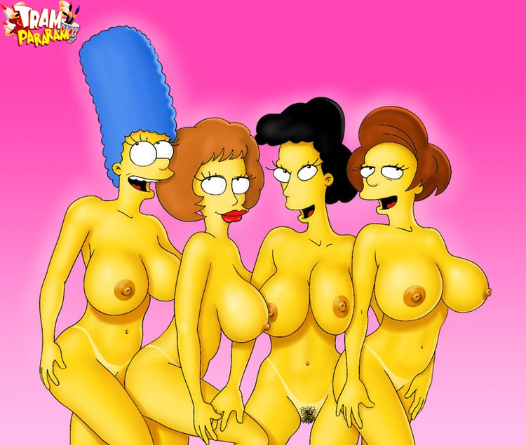 simpsons women have collected to have some fun with their plump