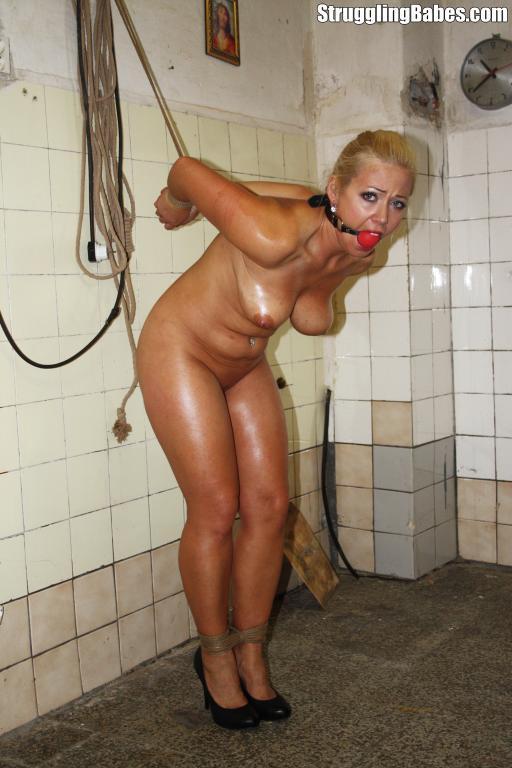 in bondage High heeled woman