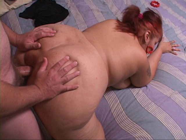 Red ponytailed latina BBW gets assfucked in doggy style - Picture 3