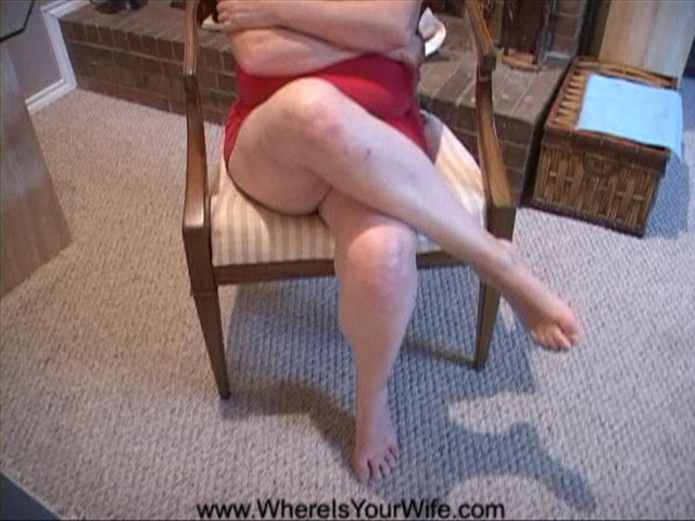Fair-haired mom in red dress seduces a dude to hard - Picture 1