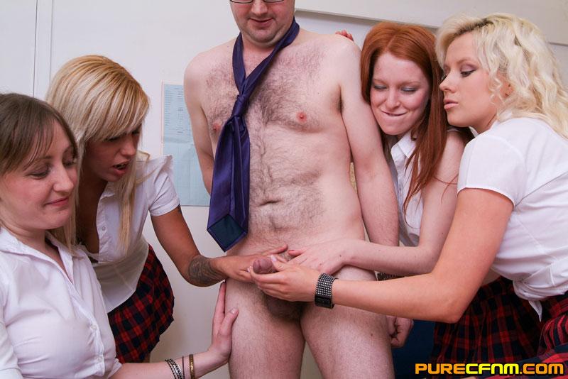 Four girls hand job