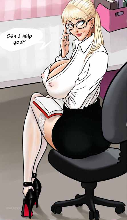 A sexy hot secretary got table fucked with a huge - Picture 3