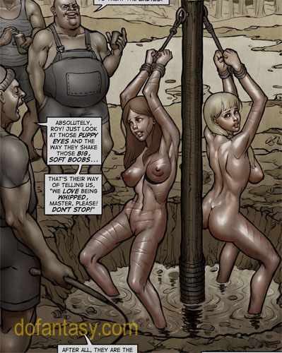 Two enslaved girls suspended and - BDSM Art Collection - Pic 2