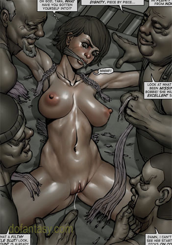 Brunette slave-girl roped and stretched - BDSM Art Collection - Pic 3