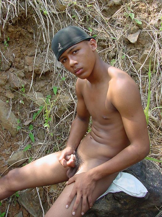 Bronzed, beautiful and horny young latino playing with his awfully large manmeat and blasting cum on himself - XXXonXXX - Pic 6