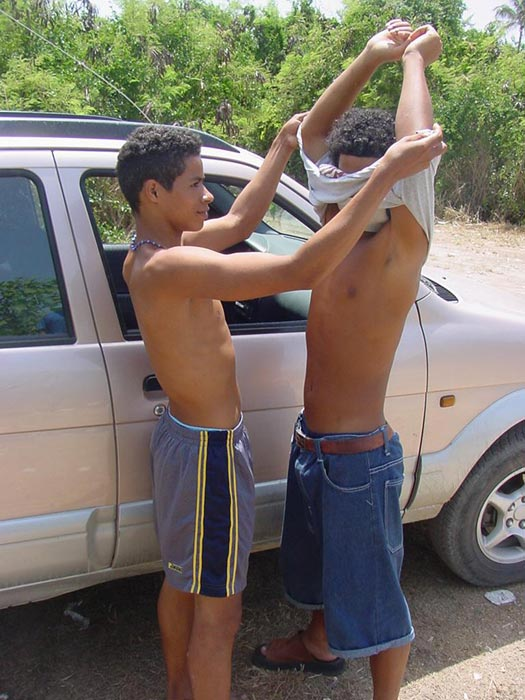 Horny Latin Dudes Outdoor Banging