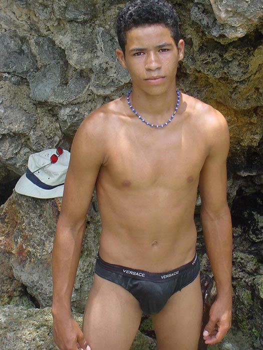 A robust young bronze latino sunbathing among the rocks and wanking that impossibly large dick of his until he cums - XXXonXXX - Pic 7