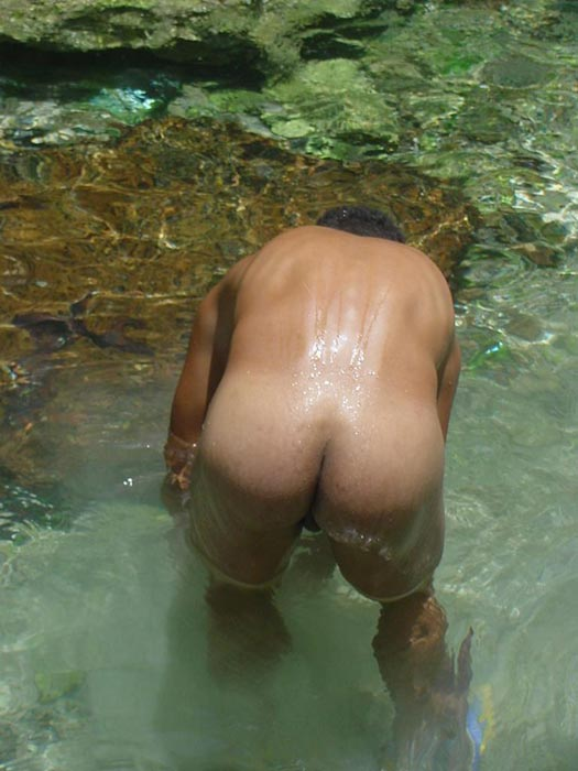 A robust young bronze latino sunbathing among the rocks and wanking that impossibly large dick of his until he cums - XXXonXXX - Pic 13