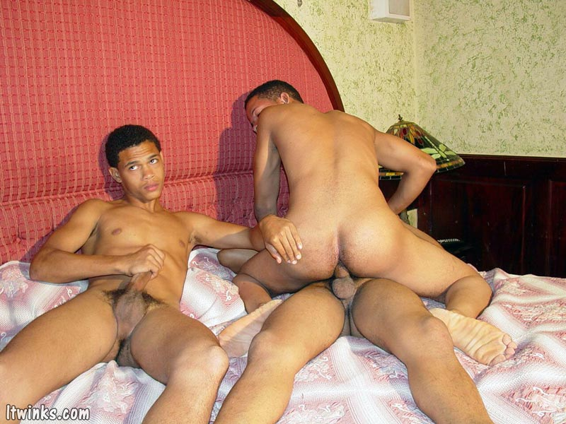 Three latin twinks fucking