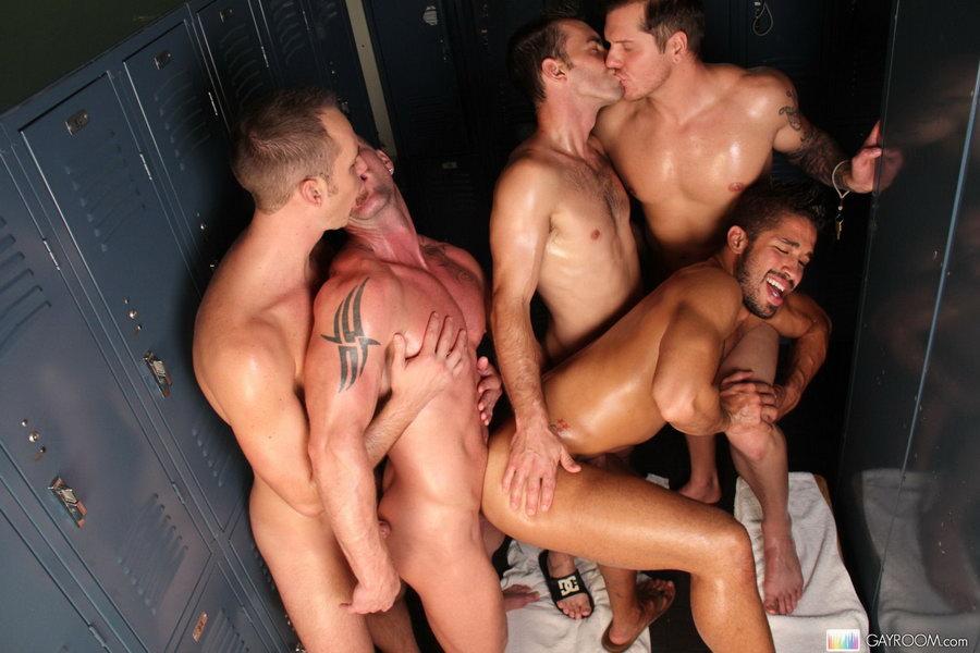 locker Hunky males room in fucking