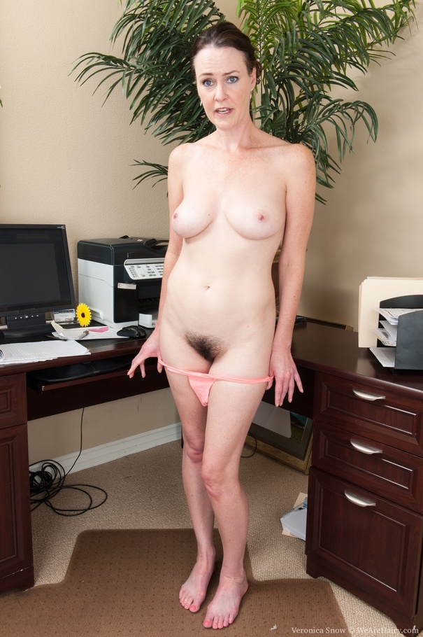 office Naked worker woman