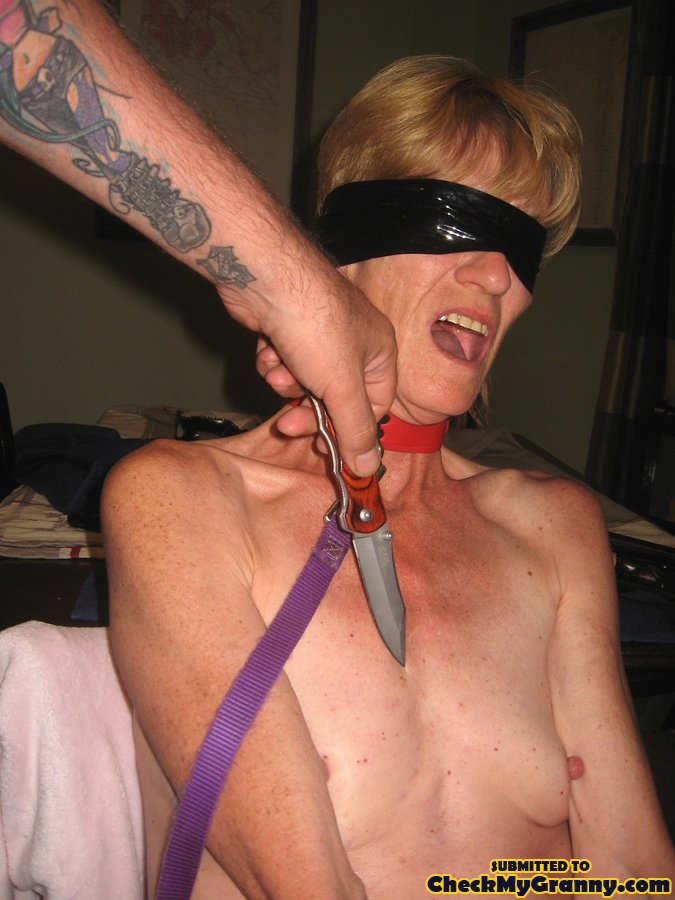 Granny In Bondage Joyously Accepts Ass And Xxx Dessert