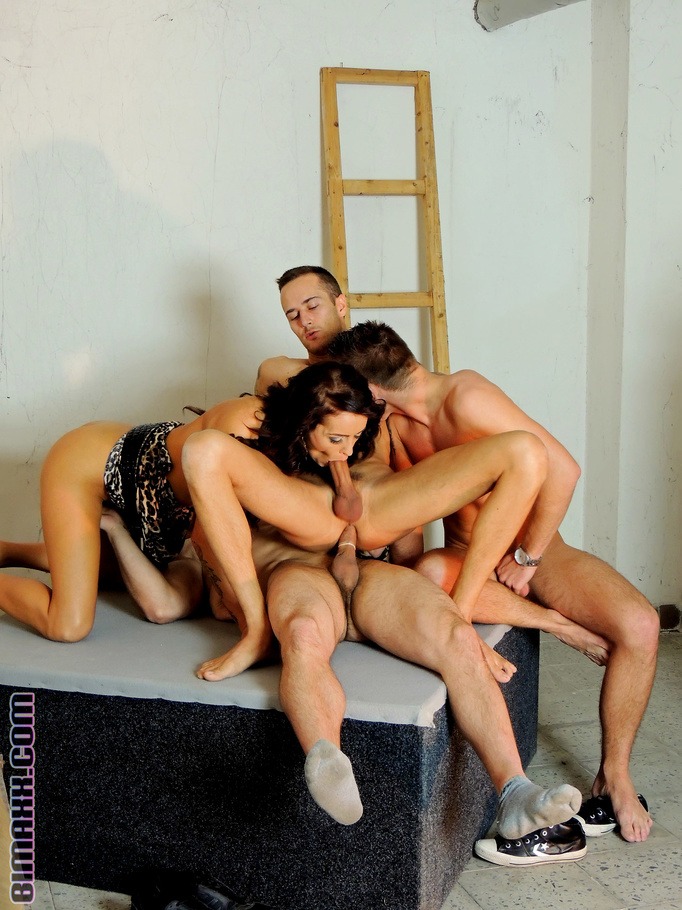 Bi Girl And Boys Have Naked Hardcore Fun Xxx Dessert Picture