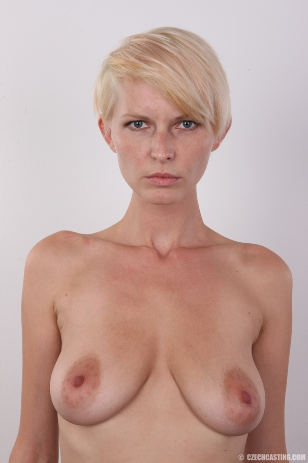 Short Hair Blonde Huge Tits