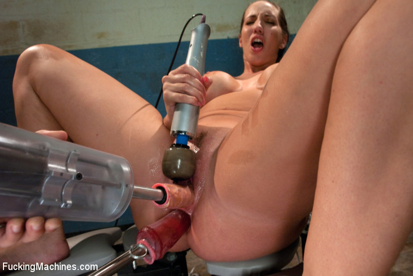 Anal machine squirt