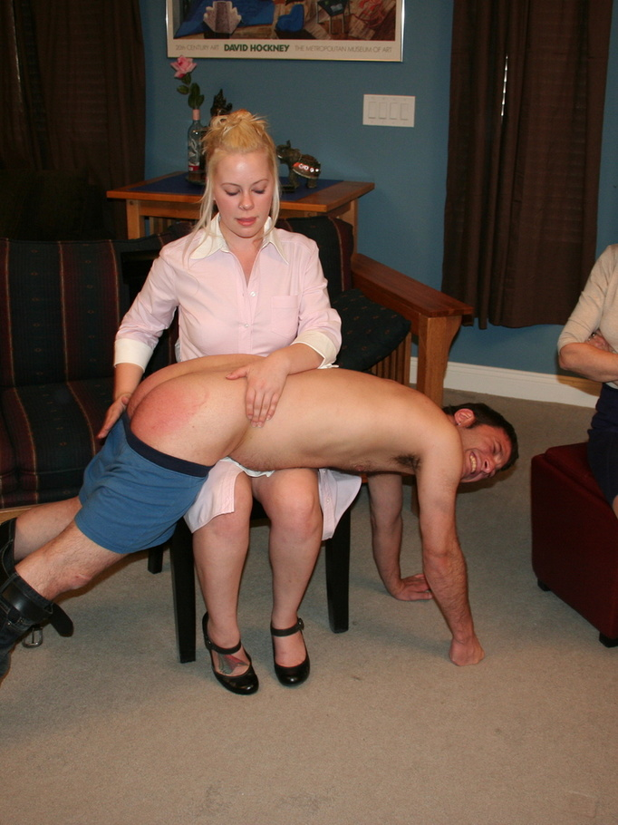 Sassy milf spanked with a loaf of bread 3