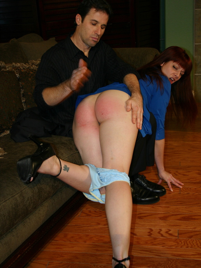 Spanked horny her ass