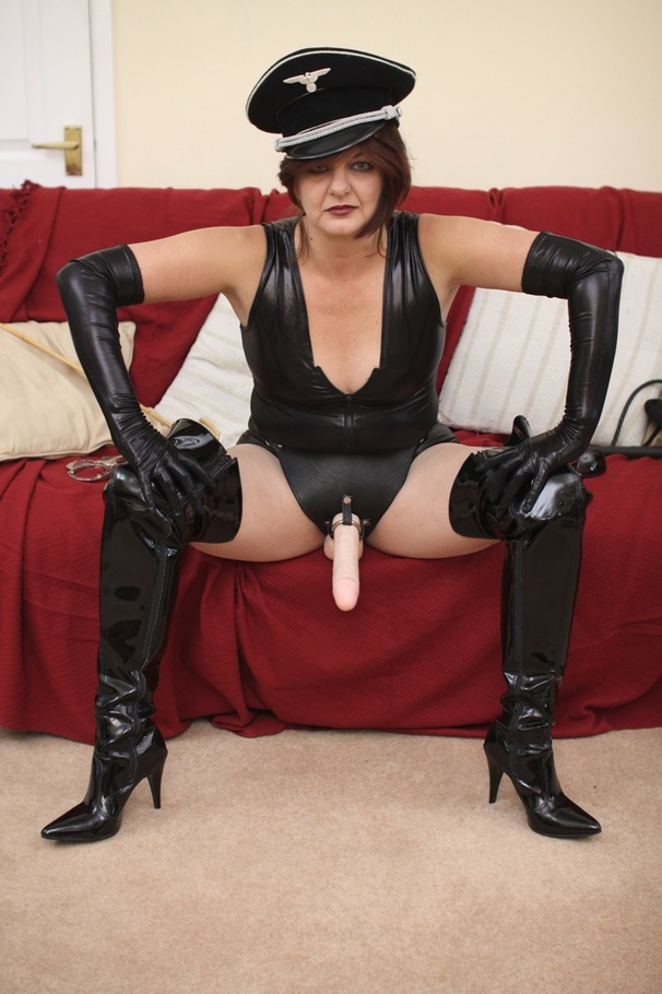 image Milf in latex boots loves to masturbate