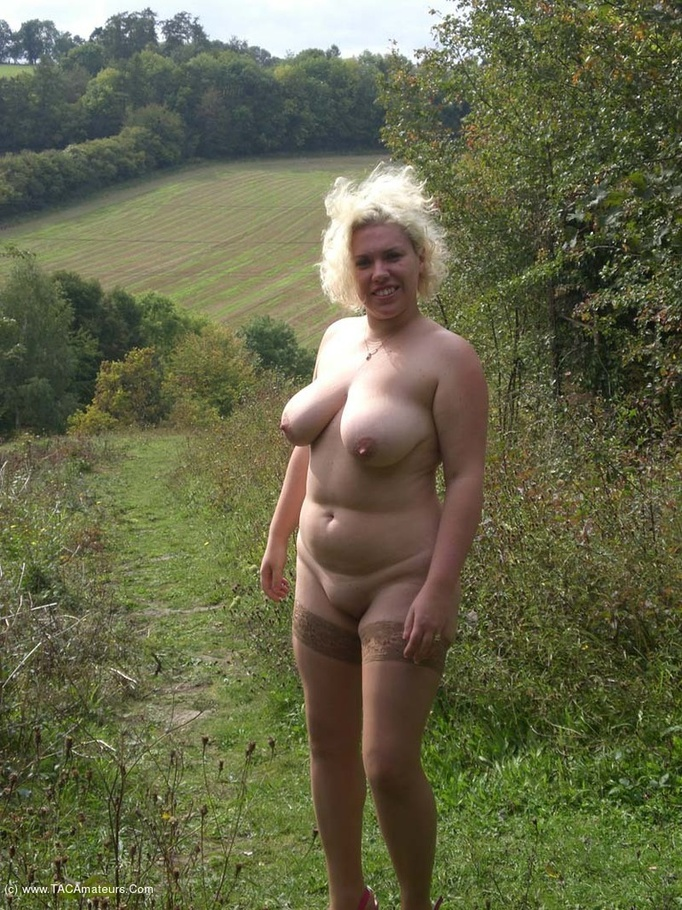 Big tits exhibitionist