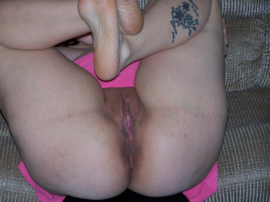 legs open as her hairy pussy gets pounded