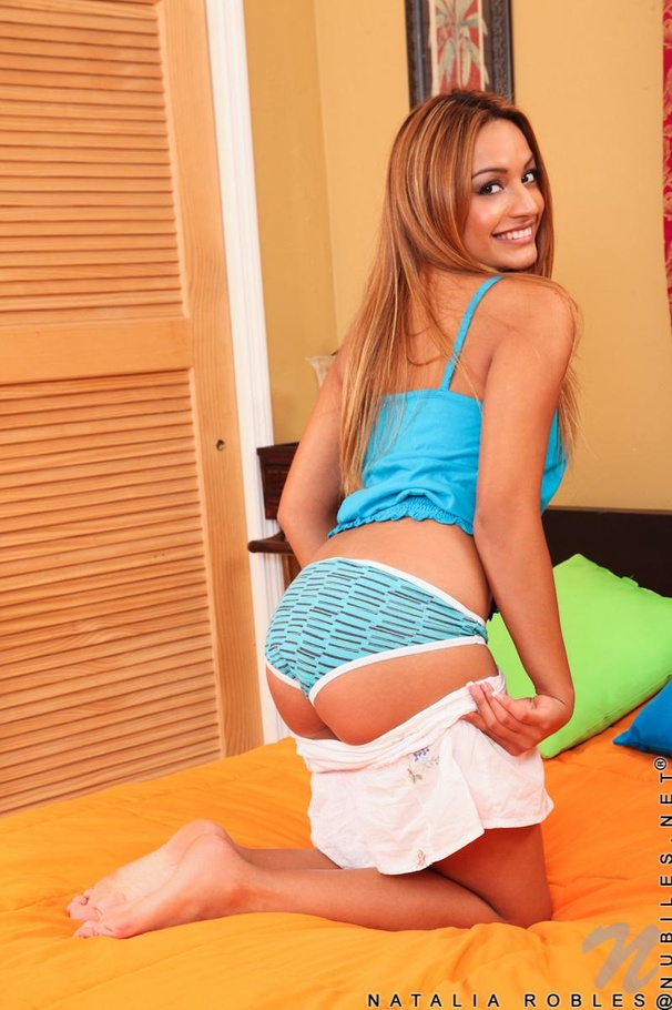 Lovely latina babe Natalia Robles gets her shaved pussy slammed hardcore  582781